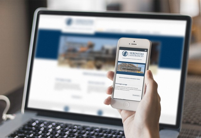 création site internet responsive serenitas-assurances