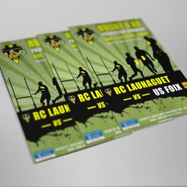 Affiche RC Launaguet VS Foix