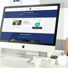 Refonte site internet Anne-Catherine SABAS